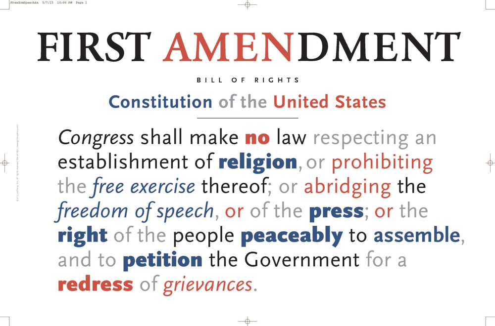 First Amendment poster print