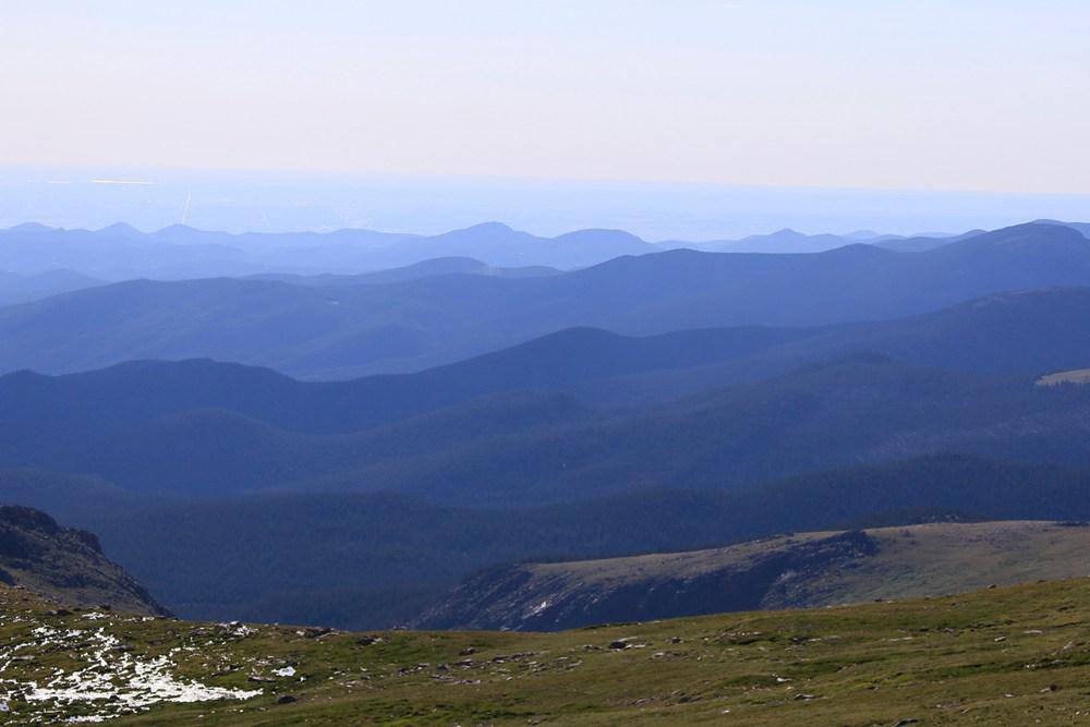 Gazing over the mountains toward Denver