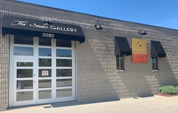 Building front for The Studio Gallery of artist Shirley Williams in Windsor, Ontario