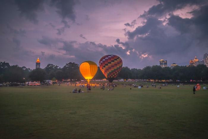 Piedmont Park Balloon Glow 2019