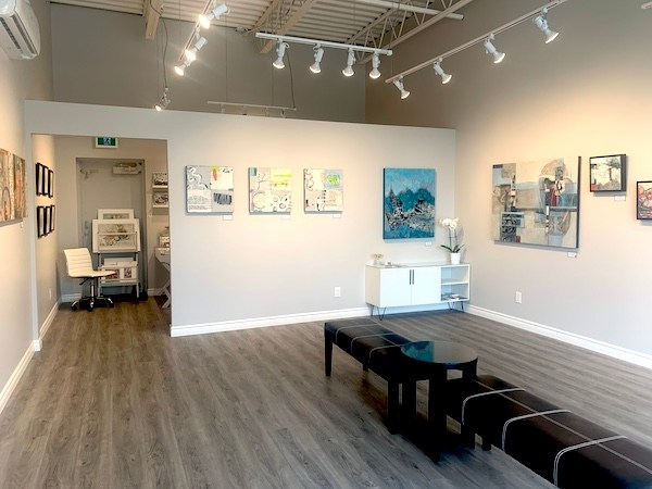 Interior of The Studio Gallery attached the the painting studio of artist Shirley Williams