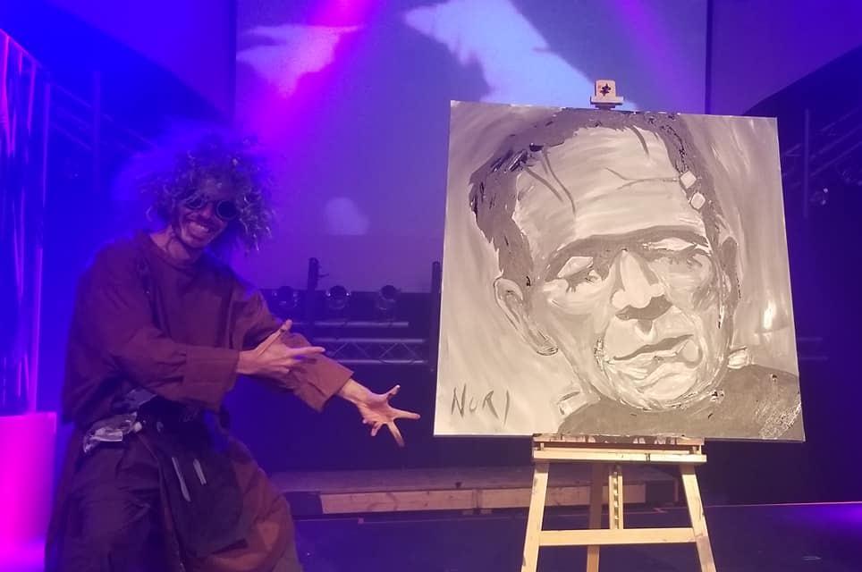 Frankenstein painting by Brian Nori