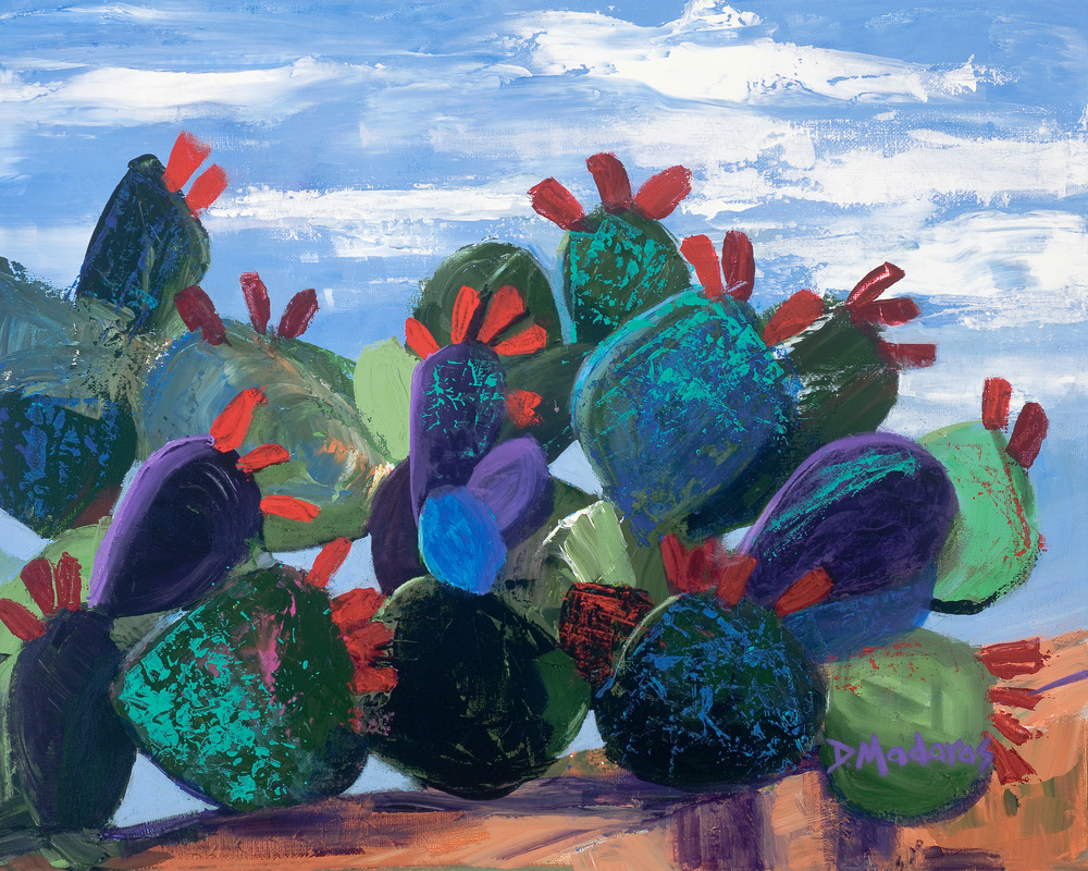 Wall of Prickly Pear by Diana Madaras