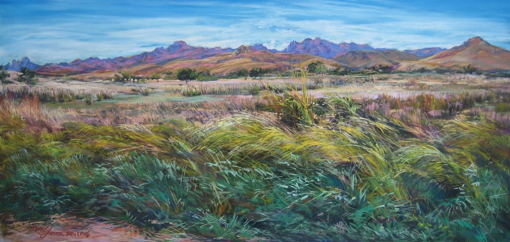 Windswept Color pastel by Lindy Cook Severns