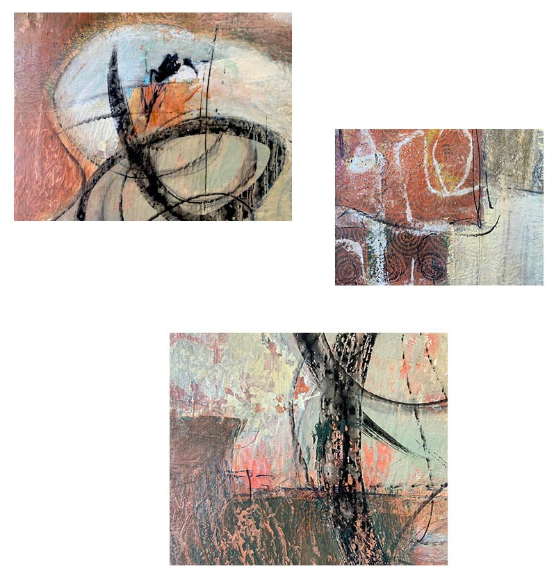 Detail shots of the original painting by canadian artist shirley williams, call Building Blocks