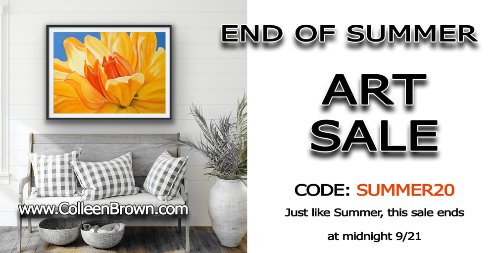 End of Summer Art Sale - Take 20% off your entire order from now through until midnight 9/21