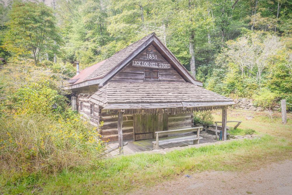 The Lick Log Mill Store near Highlands, North Carolina