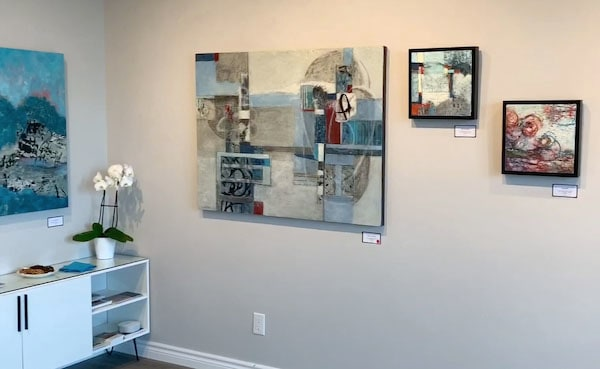 Video still from the Studio Gallery virtual tour of art by shirley williams