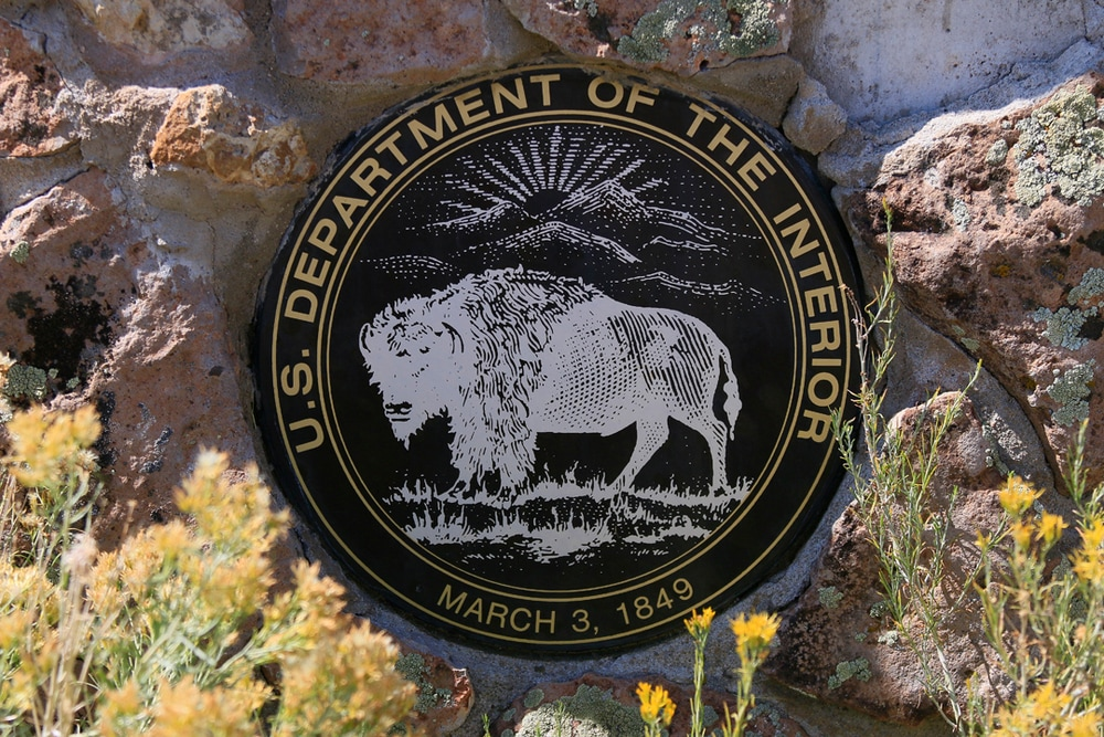 Department of the Interior sign