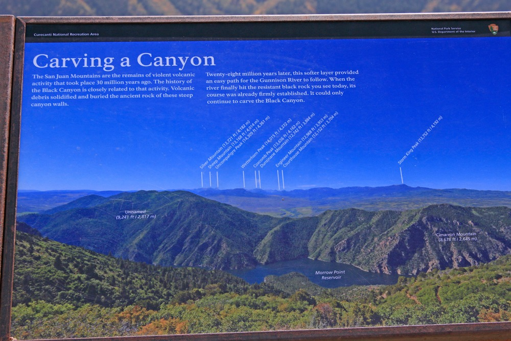 How a Canyon is made signage