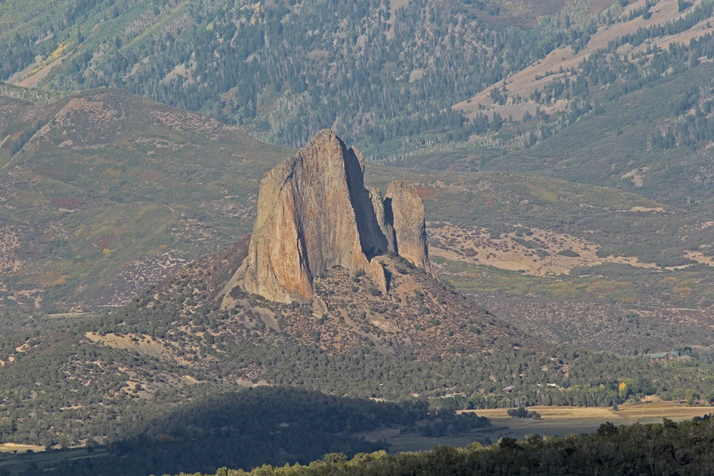 Another view of Needle Rock, Crawford, Colorado