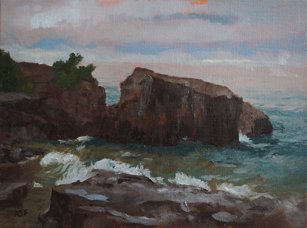 Painting at Artist Point in Grand Marais, MN