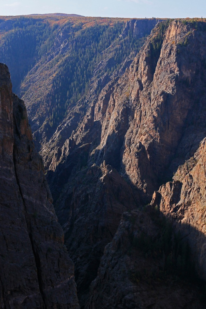 Image of why it is called the black canyon...
