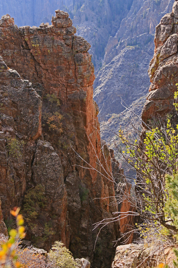 View up the canyon.