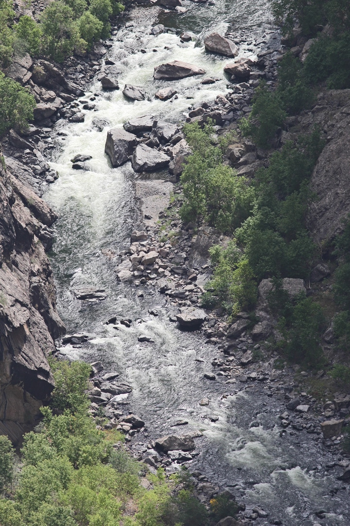 Closeup rapids looking upriver.