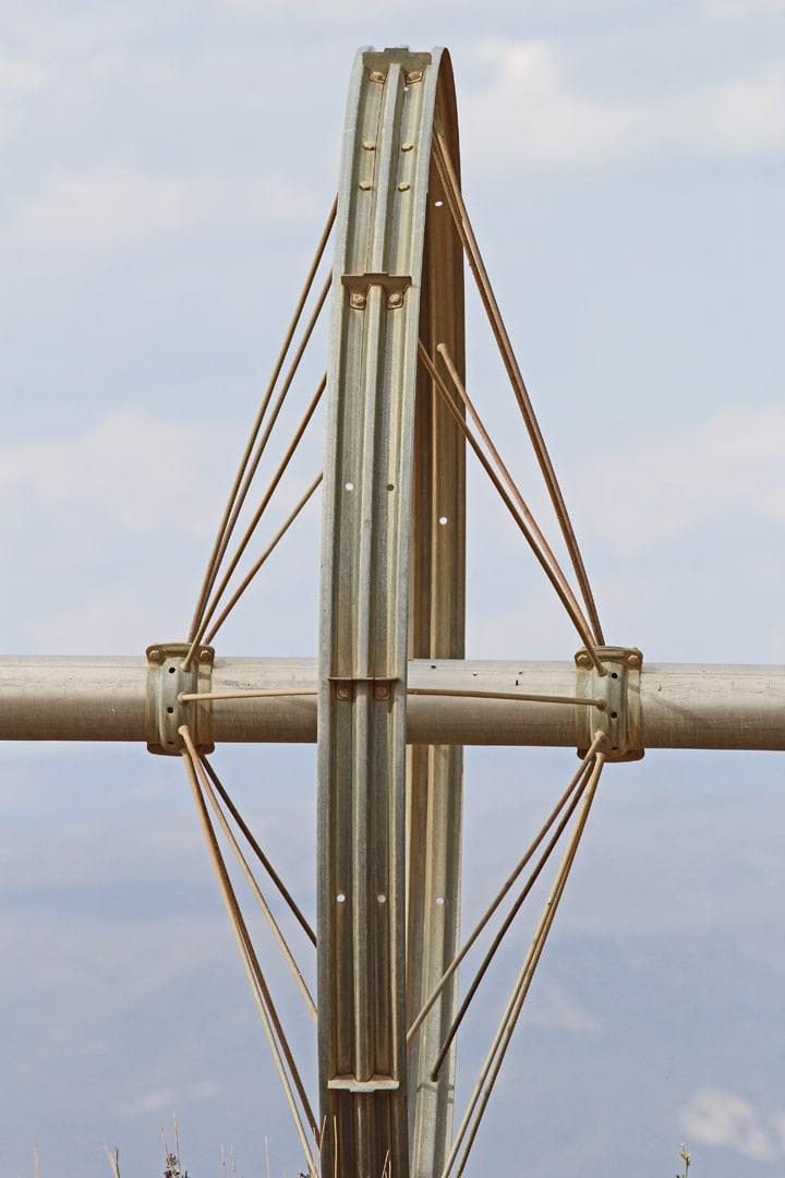 Irrigation wheel, head-on.
