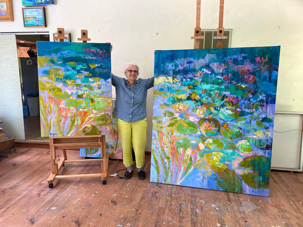 Dorothy Fagan paints big art