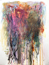 photo of original painting titled Contemplating Grace by NH artist Dawn Boyer