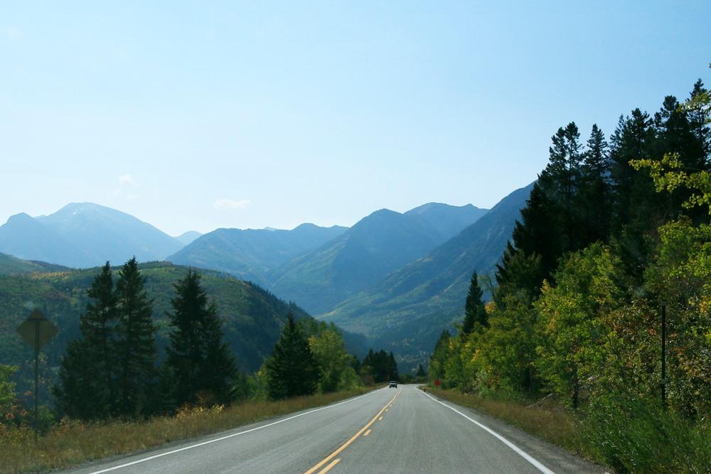 Descending from McClure Pass