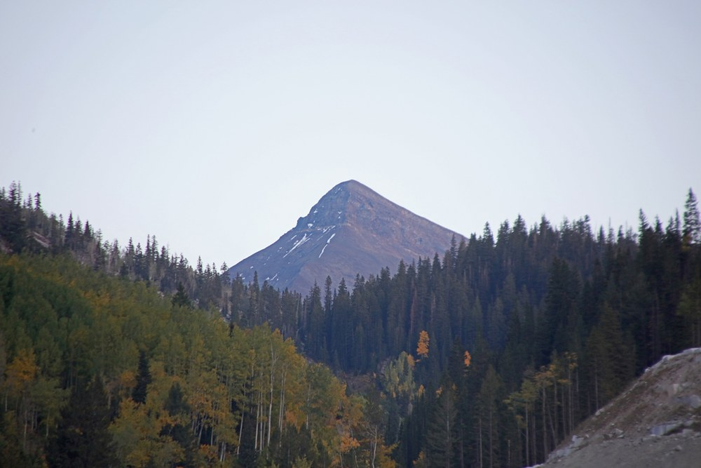Mountain above the quarry.