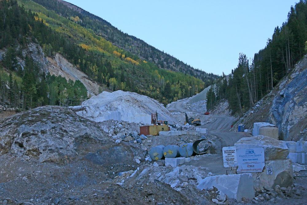 Quarrying site.