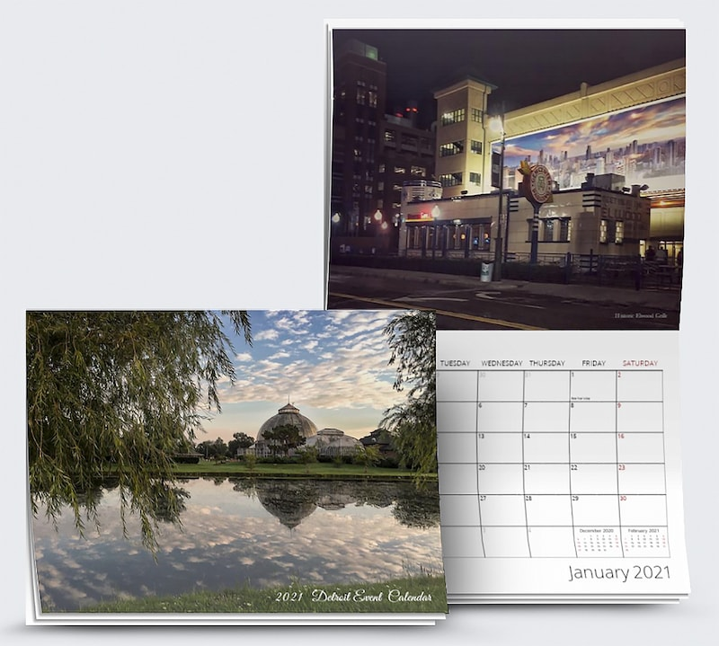 2021 Detroit Events Calendar Cover and Inside