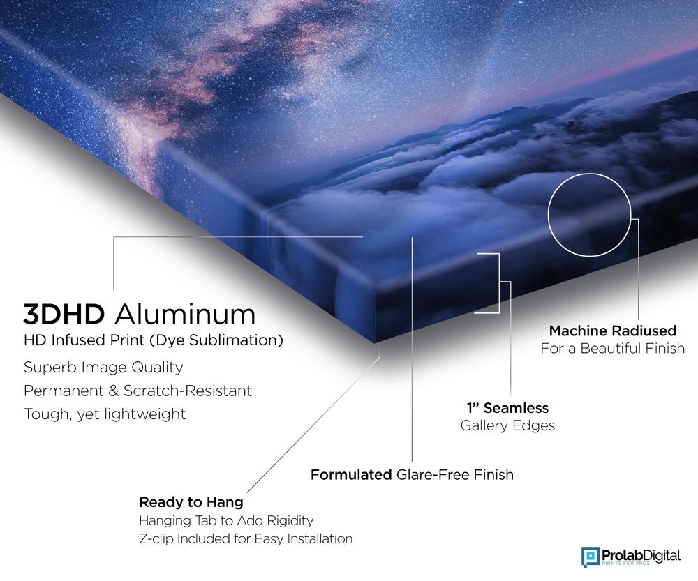 3DHD Aluminum Print