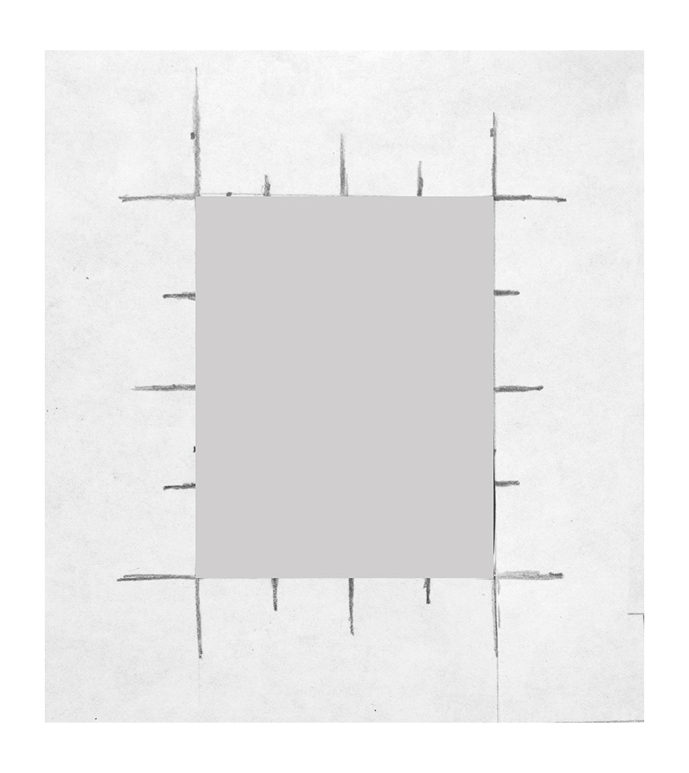 grid and window used to plan Lame Ducks paintings