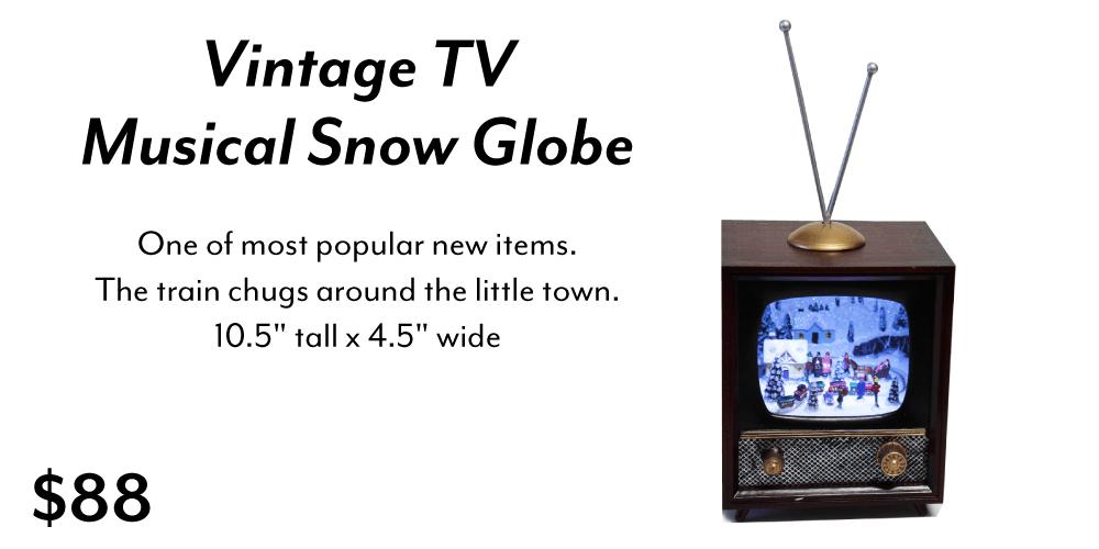 Vintage Tv Snow Globe