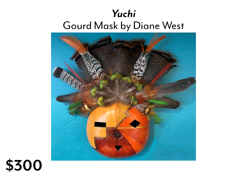 Diane West Gourd Mask