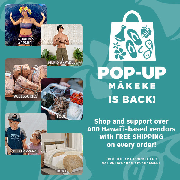 Pop-up Mākeke Hawaii Culture event.