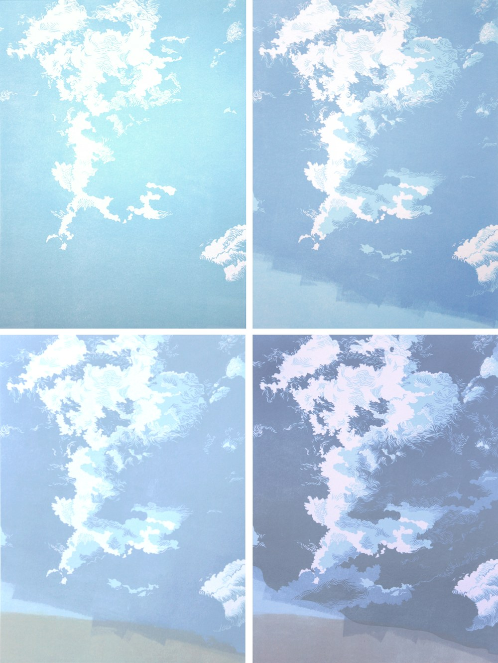 Migrant Sky, impressions 1-4, by William H. Hays