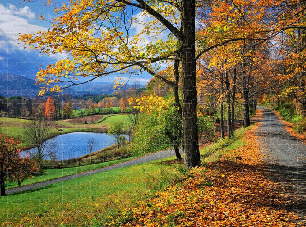 Cloudland Road Vermont - America's Best Selling Jigsaw Puzzles by T-S PhotoArt
