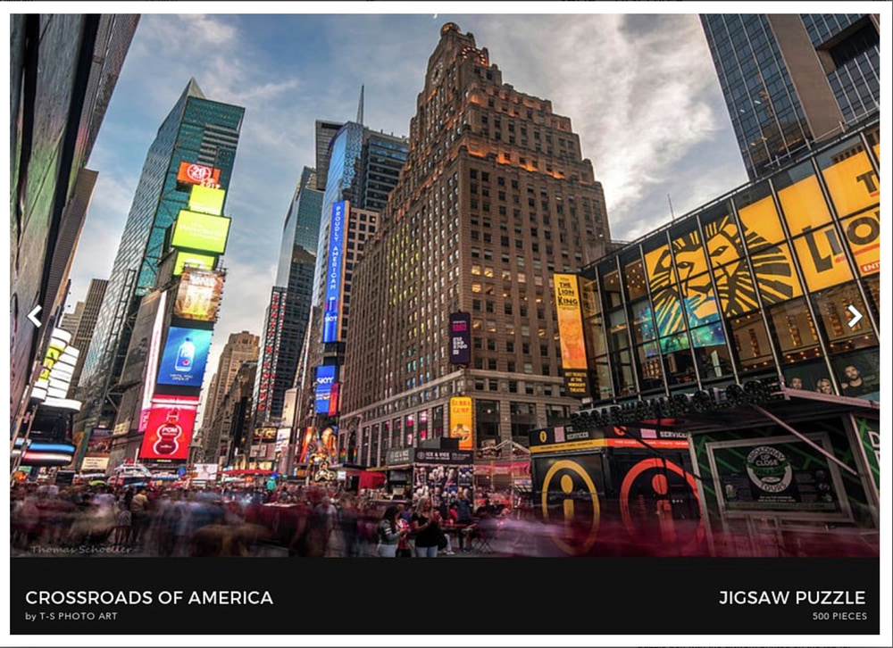 Times Square - High quality American made jigsaw puzzles by T-S Photo art