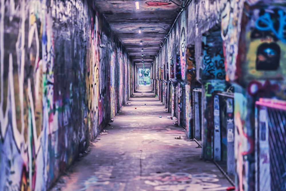 Krog Street Tunnel in Atlanta - the inside of the tunnel with colorful graffiti