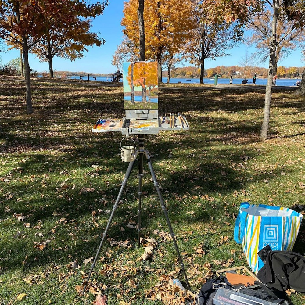 Fall plein air painting Abbey Fitzgerald