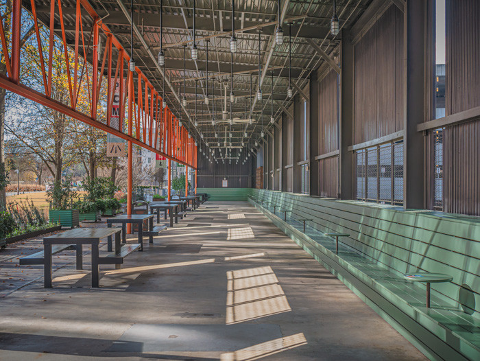 Ponce City Market's outdoor patio on the Beltline in Atlanta