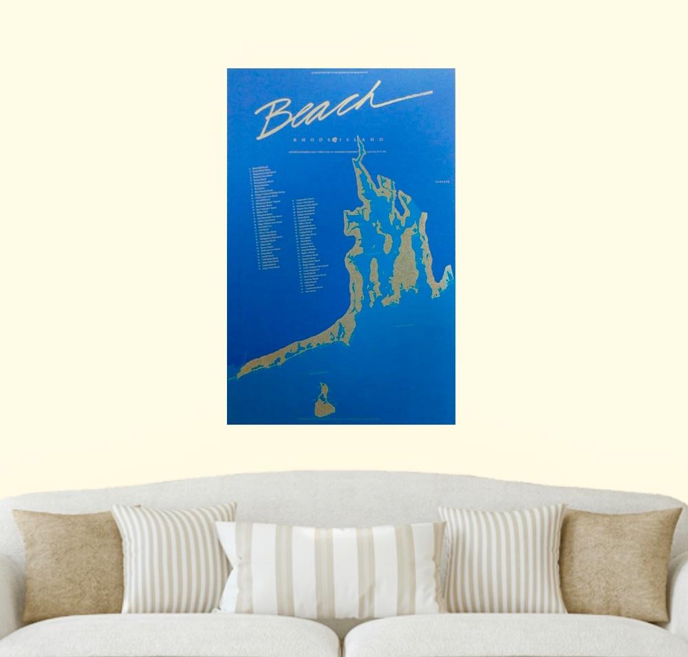RI Beach Poster