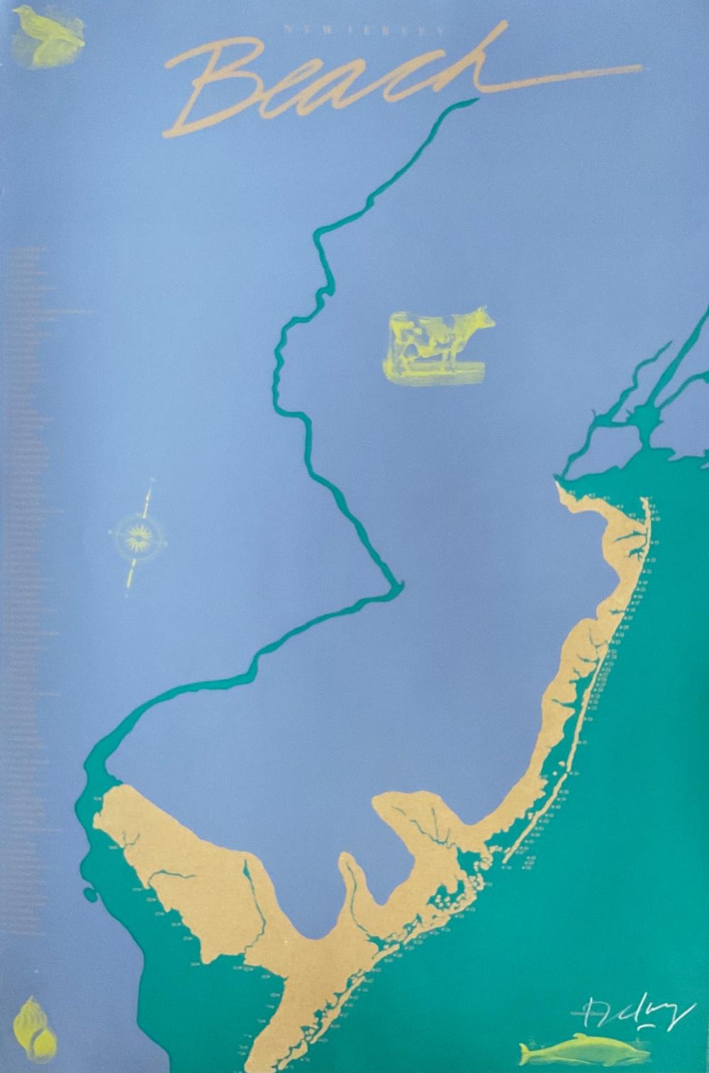 New Jersey Beach Poster