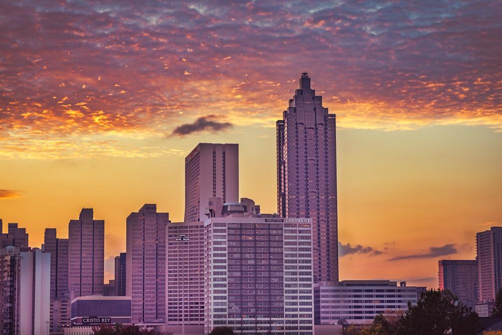 Beautiful clouds at sunset in Atlanta
