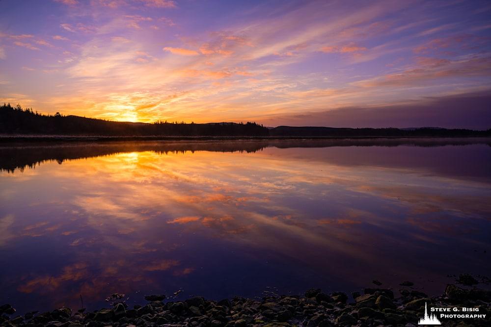 Winter Sunrise, Palix River, Washington, 2021