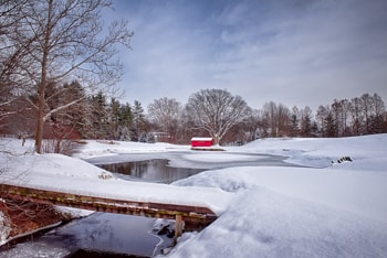 Crooked Stick Golf Club's 6th in winter.