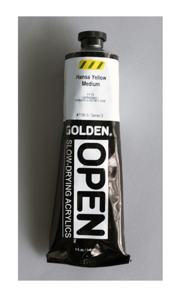 a tube of Golden Open paint