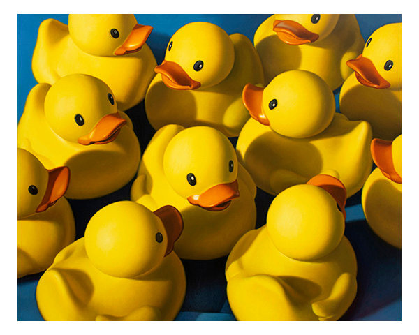 """""""Clusterduck"""" painting by Kevin Grass"""
