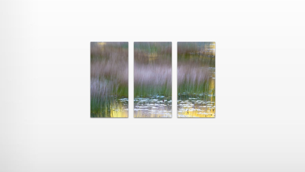 Contemporary custom triptych wall clusters by Thomas Schoeller Photography