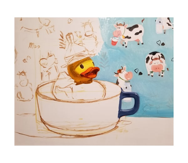 """Early stage of the rough-in of """"Milkduck."""""""