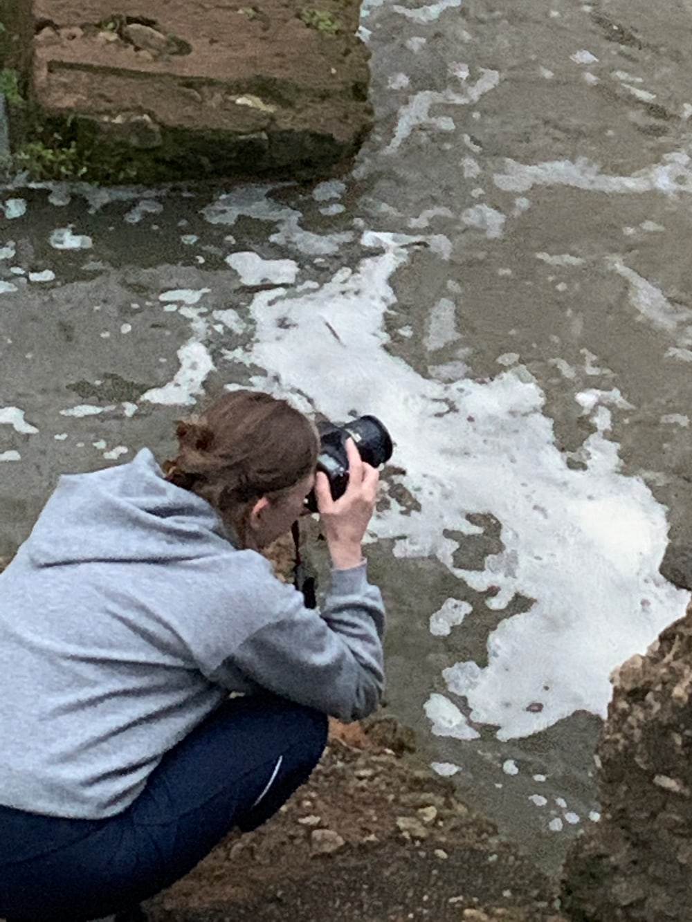 A photo of me taking photos at Starr's Mill