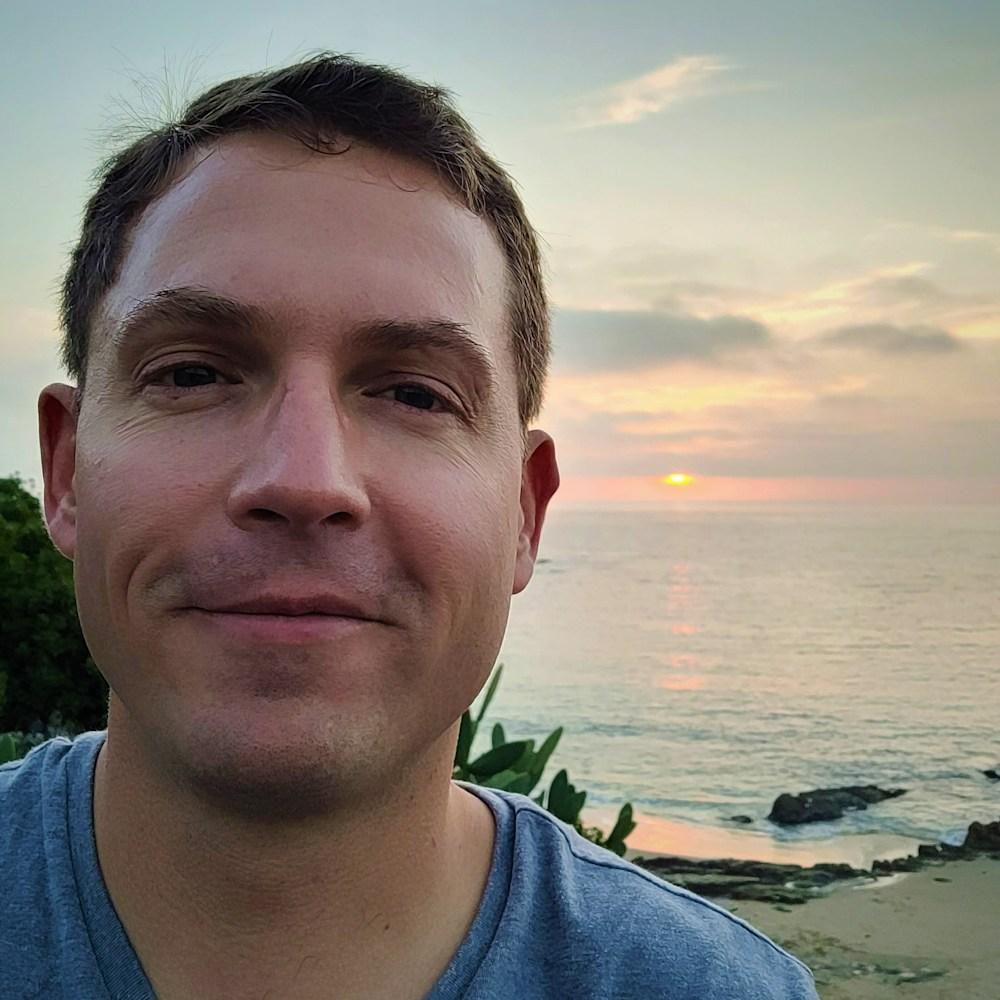 The artist, AEllis, on an evening stroll, Laguna Beach, CA