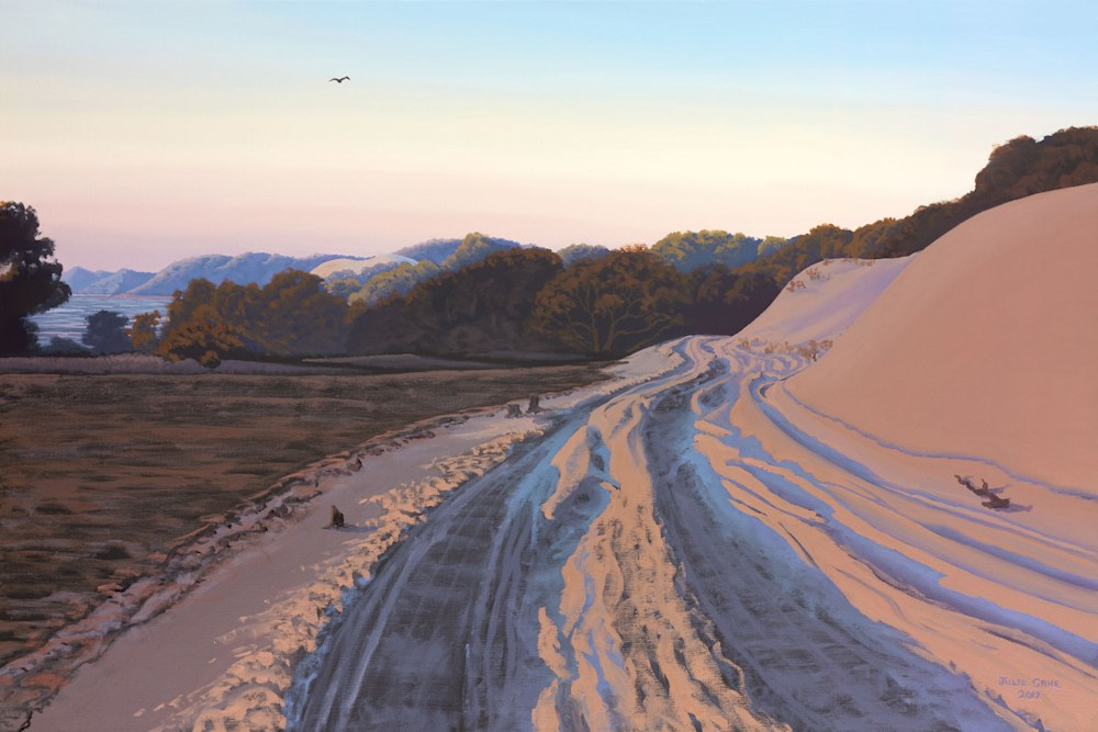 Artist - Julie Cane, Evening Adventure - Moreton Island.