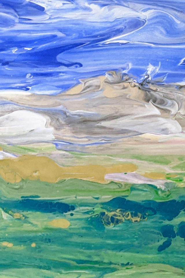 Fluid Landscape No. 1 (Mountain range)